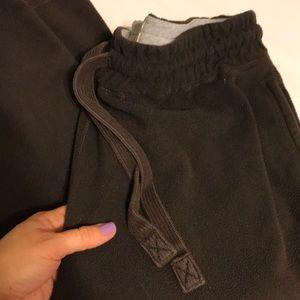 Old Navy brown fleece sweatpants size L